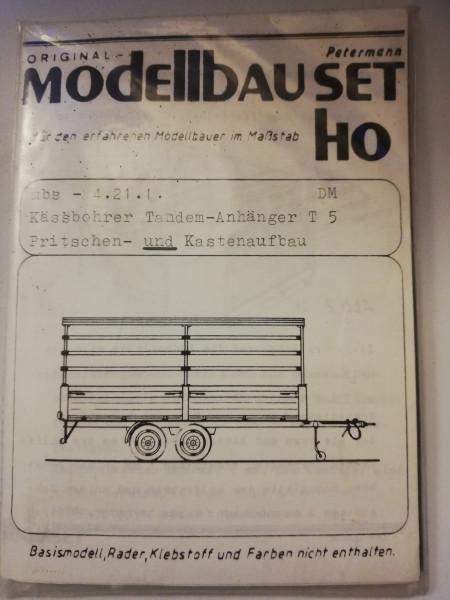 Petermann Original-Modellbauset 4.21.1 Kässbohrer Tandem-Anhänger T 5 Pritschen-und Kastenaufbau 1:8