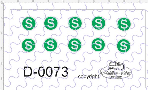 D-0073 S-Schild - Decalsatz 10 Stück 1:87