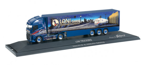 "Herpa 121545 Volvo FH Globetrotter XL Kühlkoffer-Sattelzug ""Loni Trucking"""