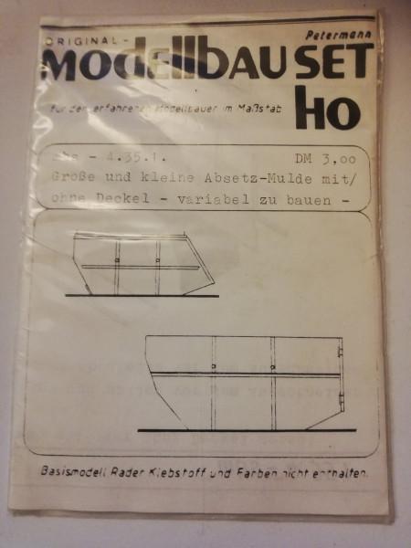 Petermann Original-Modellbauset 4.35.1 Große und kleine Absetz-Mulde mit/ohne Deckel 1:87