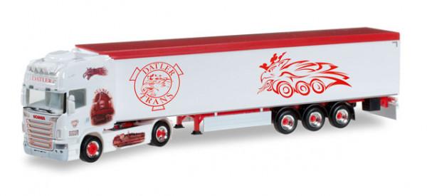"""Herpa 305808 Scania R 04 Schubboden-Sattelzug """"Datler"""" (A)"""