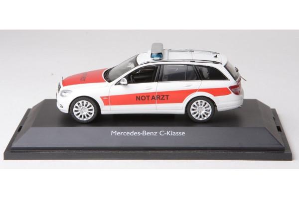 Schuco 04943 - Mercedes Benz C Klasse T Modell Notarzt - 1:43 neu in PC Vitrine OVP