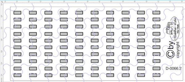 D-0066.4 Begrenzungslichter silber - Decalsatz 100 Stück 1:87