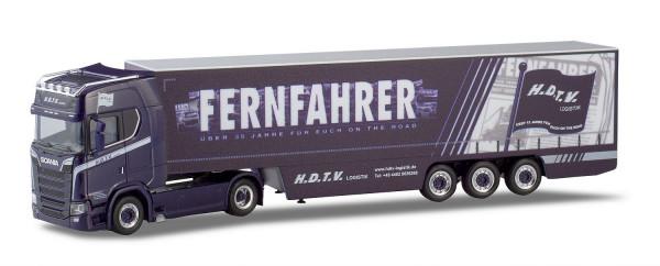 Herpa 936040 Scania-CS20-Highline-V8-Gardinenplanen-Sattelzug-H-D-T-V-Fernfahrer