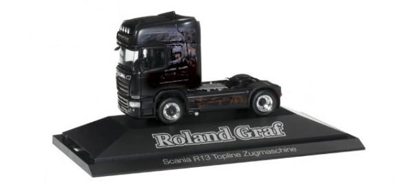 "Herpa 110730 Scania R 2013 TL Solo-Zugmaschine ""Roland Graf / Black Magic"""