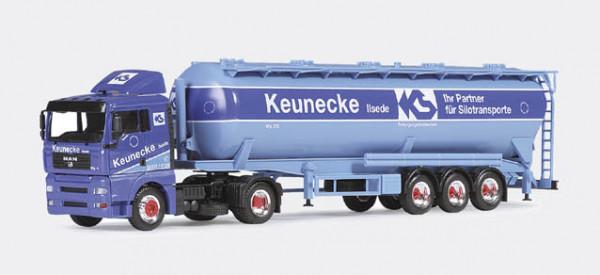 "Herpa 146692 MAN TGA XL Silo-Sattelzug 60m³ ""Keunecke"""