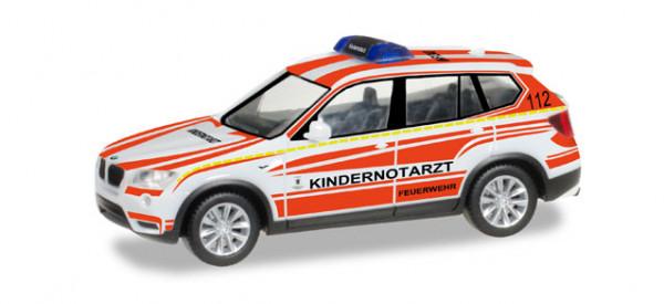 """Herpa 092173 BMW X3 Kindernotarzt-Fahrzeug """"Feuerwehr München"""""""