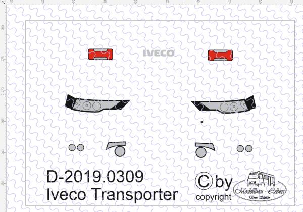 D-2019.0309 - Decalsatz Scheinwefer Iveco Transporter 1:87