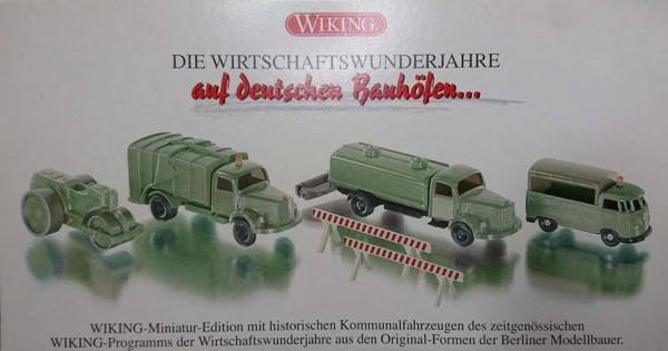 """Wiking 990-5552 Sonderset """"auf deutschen Bauhöfen"""" in Ovp"""