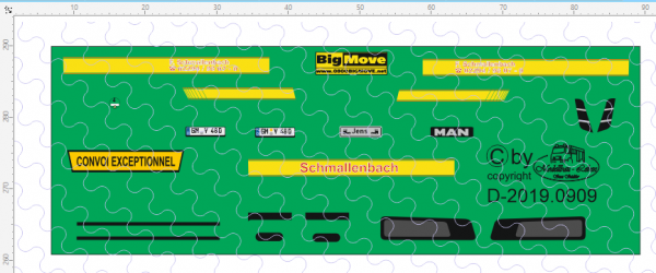 D-2019.0909 Decalsatz Schmalenbach MAN Zugmaschine 1:87