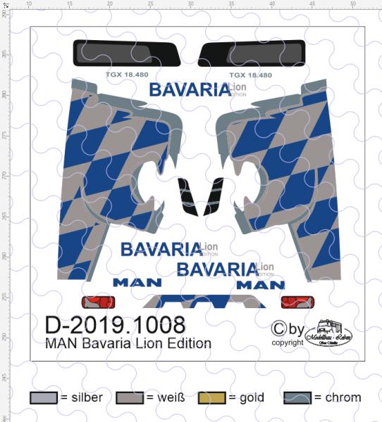 D-2019.1008 - Decalsatz Bavaria Lion Edition für MAN Zugmaschine - 1 Stück - 1:87