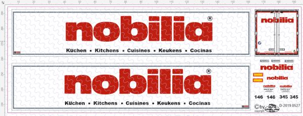 D-2019.0527 Decalsatz Auflieger Nobilia 1 Stk. - 1:87