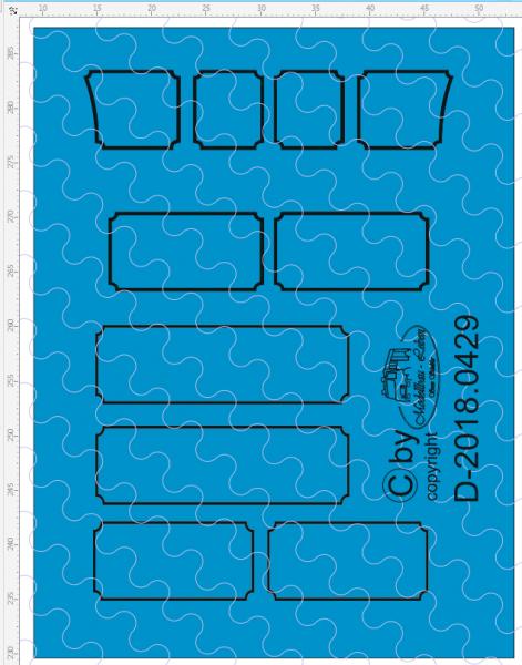D-2018.0429 Decalsatz 1:87 für Umrandung Seitenverkleidung / Palettenkasten