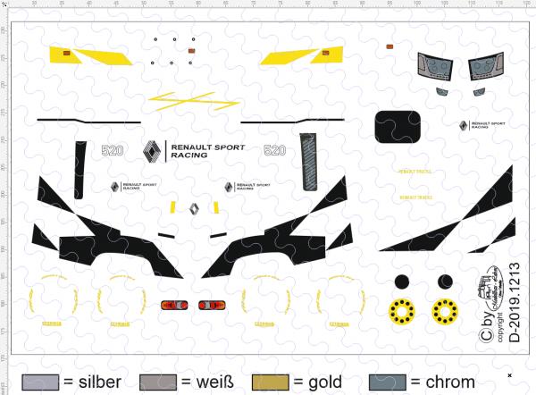 D-2019.1213 - Decalsatz Renault T für Fahrerhaus - Race Design I - 1 Satz 1:87