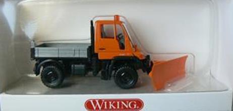 Wiking 6460335 Unimog U 400 mit Schneepflug 1:87