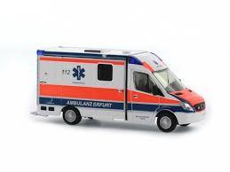 Rietze 61779 RTW Mercedes Benz Strobel - Ambulance Erfurt