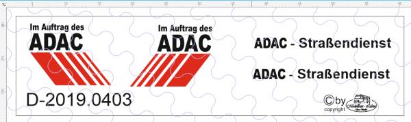 D-2019.0403 - Decalsatz ADAC Straßendienst universal - 1 Stk - 1:87