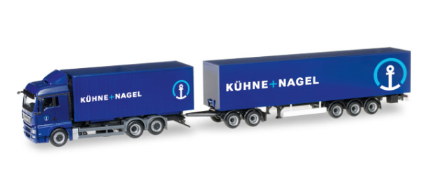 Herpa 306591 Kühne & Nagel, MAN TGX XLX Euro 6 EuroCombi Gigaliner