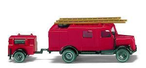 Wiking 8630020 Feuerwehr LF 8 mit Anhänger