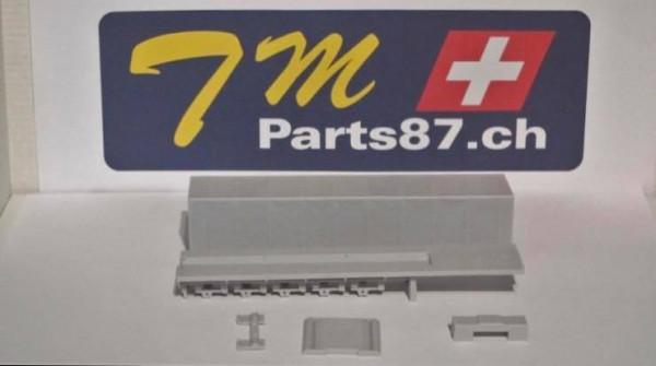 R 022020 - 5 achs Coli Mulde Resin Bausatze eines Schweizer Kleinserien Herstellers 1:87 ( 5 Teile)