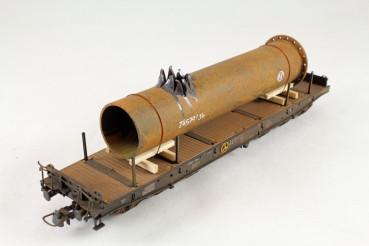 Vorbestellung Ladegüter Bauer H01035 geborstenes Rohr altes Stahlrohrstück mit aufgerissener Wandung