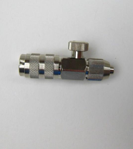 HS 104603 Schnellkupplung NW 2,7mm, regulierbar, mit Schraubtülle für Schlauch 4x6mm