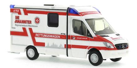Rietze 61699 Mercedes Sprinter RTW Strobel Johanniter Rheinhessen