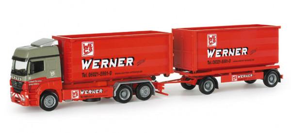 "Herpa 154178 Mercedes-Benz Axor Abrollmulden-Hängerzug ""Werner"""