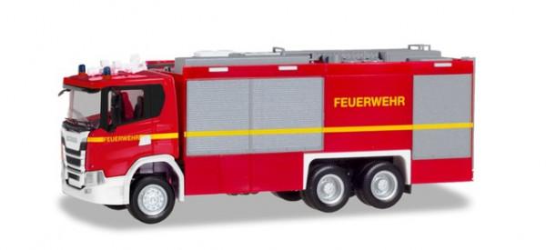 """Herpa 094375 Scania CG 17 Empl ULF """"Feuerwehr"""" (geänderter Aufbau)"""