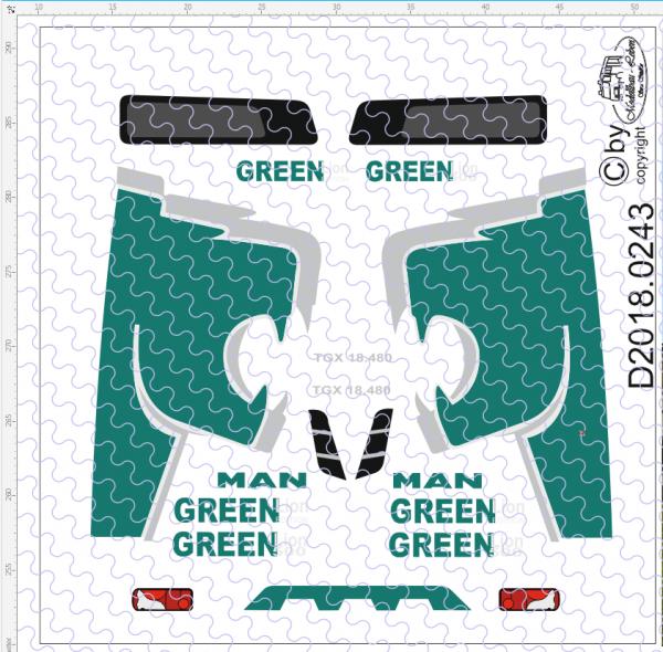 D-2018.0243 - Decalsatz MAN Green Lion Edition 1 Stück 1:87