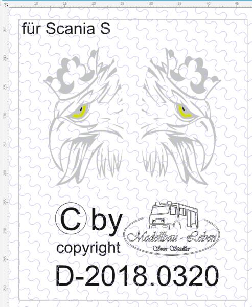 D-2018.0320 - Decalsatz Scania S Greif 1 Paar 1:87