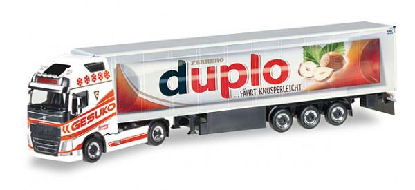 "Herpa 307482 Volvo FH Gl. XL Kühlkoffer-Sattelzug ""Gesuko / Duplo"""