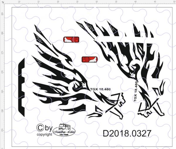 "D-2018.0327 - Decalsatz MAN ""Trible Lion"" Edition 1 Stück 1:87"