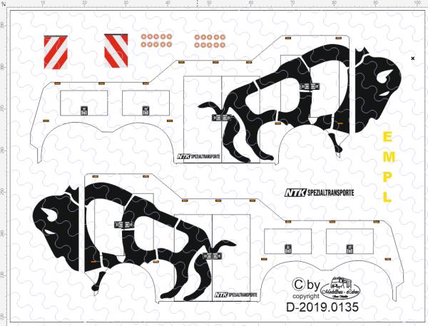 D-2019.0135 - Decalsatz Wrecker Bison - 1 Stk - 1:87