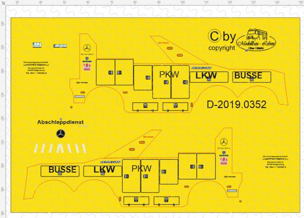 D-2019.0352 - Decalsatz Wrecker Abschleppdienst H A B E N S T E I N O B E R P F A L Z - 1 Stk - 1:87