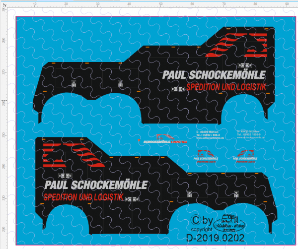 D-2019.0202 - Decalsatz Wrecker Paul Schockemöhle - 1 Stk - 1:87