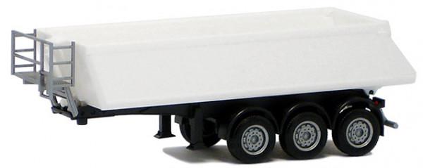Herpa 076548.001 Schmitz KippAufl. 3achs (weiß, Chassis schwarz) -Formneuheit -670300 -