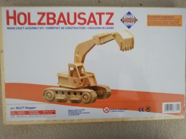 Pebaro 863/7 Holzbausatz Bagger