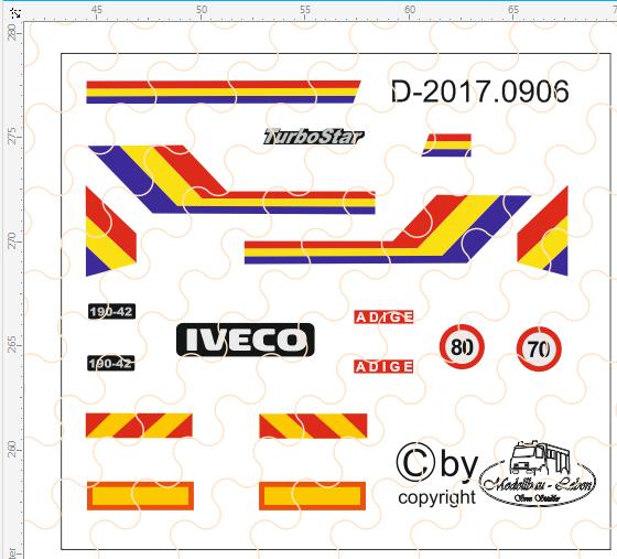 D-2017.0906 - Decalsatz Iveco Turbo Star 190.42 - 1 Stück - 1:87