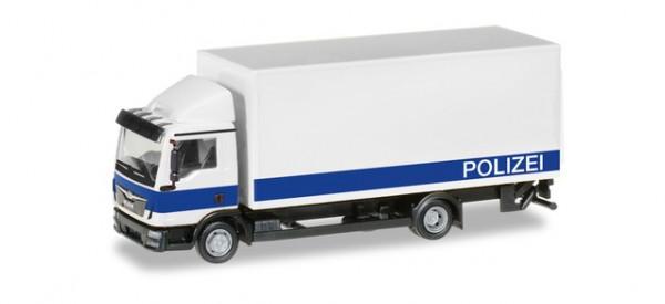 """Herpa 094504 MAN TGL Koffer-LKW mit Ladebordwand """"Polizei Brandenburg / Logistik"""""""