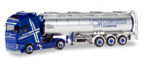 "Herpa 310543 Volvo FH Gl. XL Tank-Sattelzug ""Ingo Dinges"""