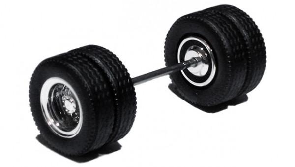 690001 F - Radsatz verchromt, MEDI Hypoid Antriebsachse