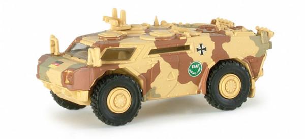 Roco 5000 minitank 1:87 leichter gepanzerter Spähwagen Fennek ISAF Neu in OVP