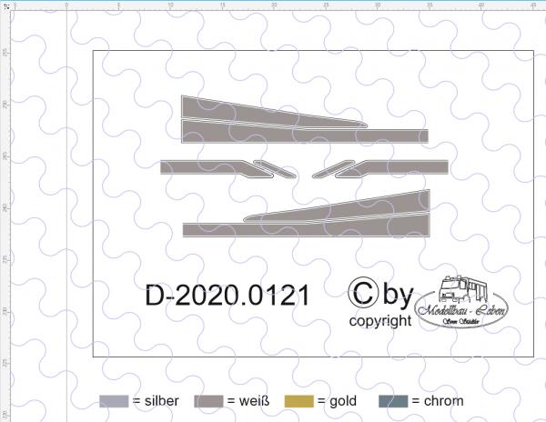 D-2020.0121 - Decalsatz Mercedes Benz Zierstreifen (auch für MAN geeignet) 1 Satz 1:87