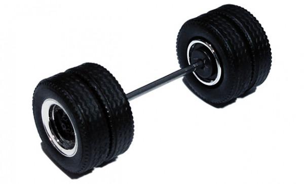690101 F - Radsatz 2tlg. chrom/schwarz, MEDI Hypoid Antriebsachse