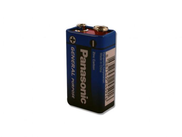Panasonic 9V Block Batterie - Typ 6F22 E-Block 9 V-Blockbatterie - Neuware 1 Stück
