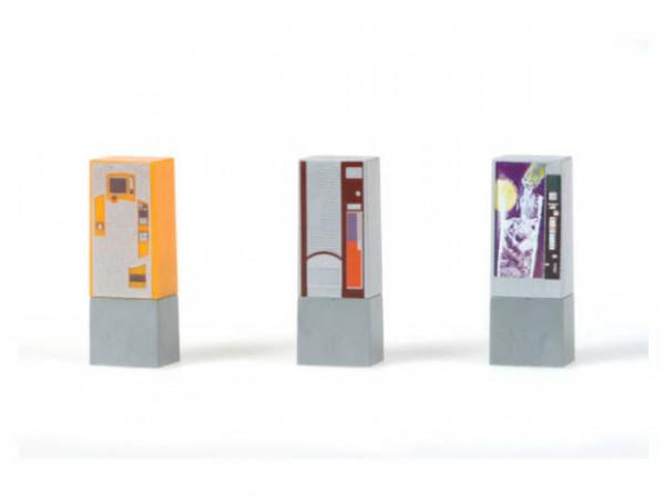 Rietze 70198 - Getränkeautomaten - 1:87 (3 Stück)