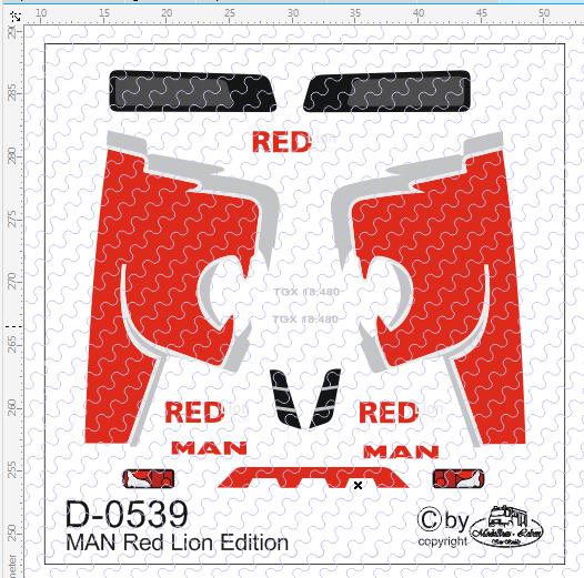 D-0539 - Decalsatz MAN Red Lion Edition Decalsatz 1 Stück 1:87