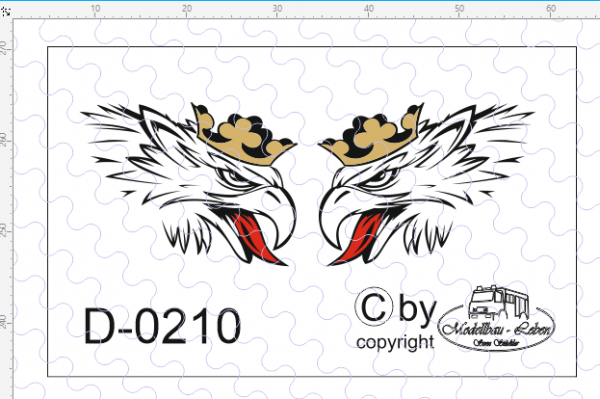 D-0210 - Decalsatz Svempas Greif klein 14 x 11 mm 1 Paar