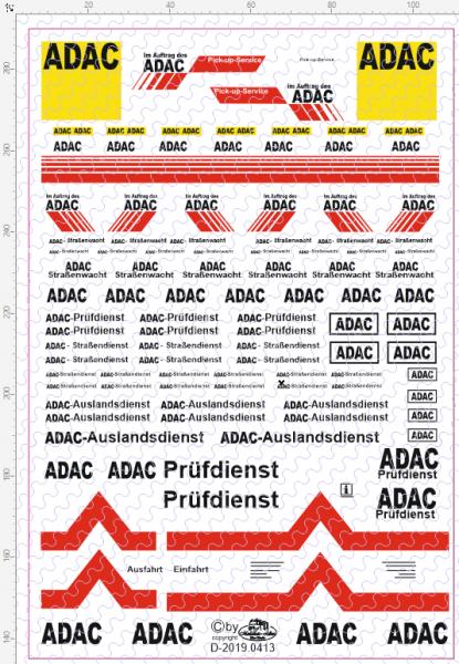 D-2019.0413 - Decalsatz Universalsatz ADAC 1:87